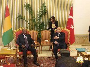 Diplomatie: Alpha Condé reçu par le Président de l'Assemblée nationale turque
