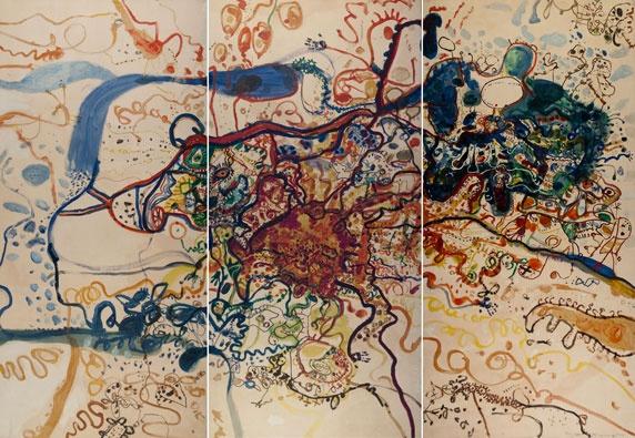 John Olsen - Google Image Result for http://www.newcastle.nsw.gov.au/__data/assets/image/0005/187385/2011-Olsen-panels.jpg