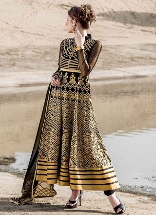 Amazing Black Designer Anarkali Suits  http://www.angelnx.com/Salwar-Kameez/Anarkali-Suits