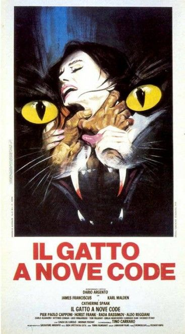 Locandina il gatto a nove code.  #filmhorror #locandine