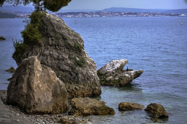Rugged beach near Trieste, Italy.