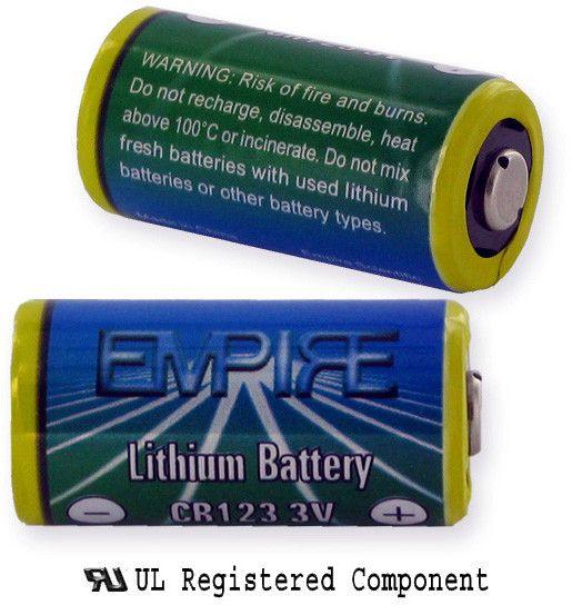 Empire Scientific CR123/1 Lithium Battery 3V 1500Mah