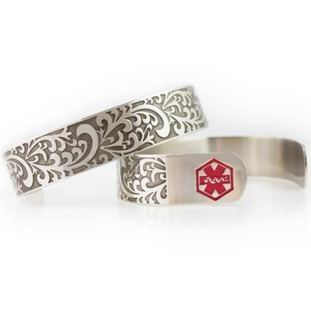 Filigree Medical Alert Cuff