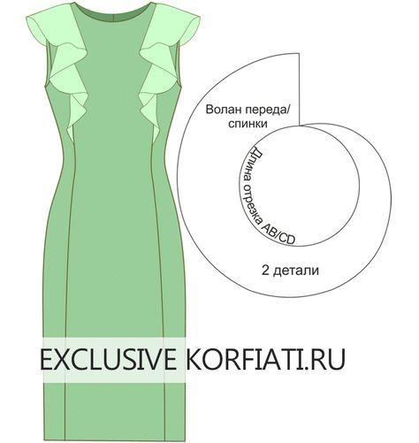 Выкройки платьев с рукавами-воланами