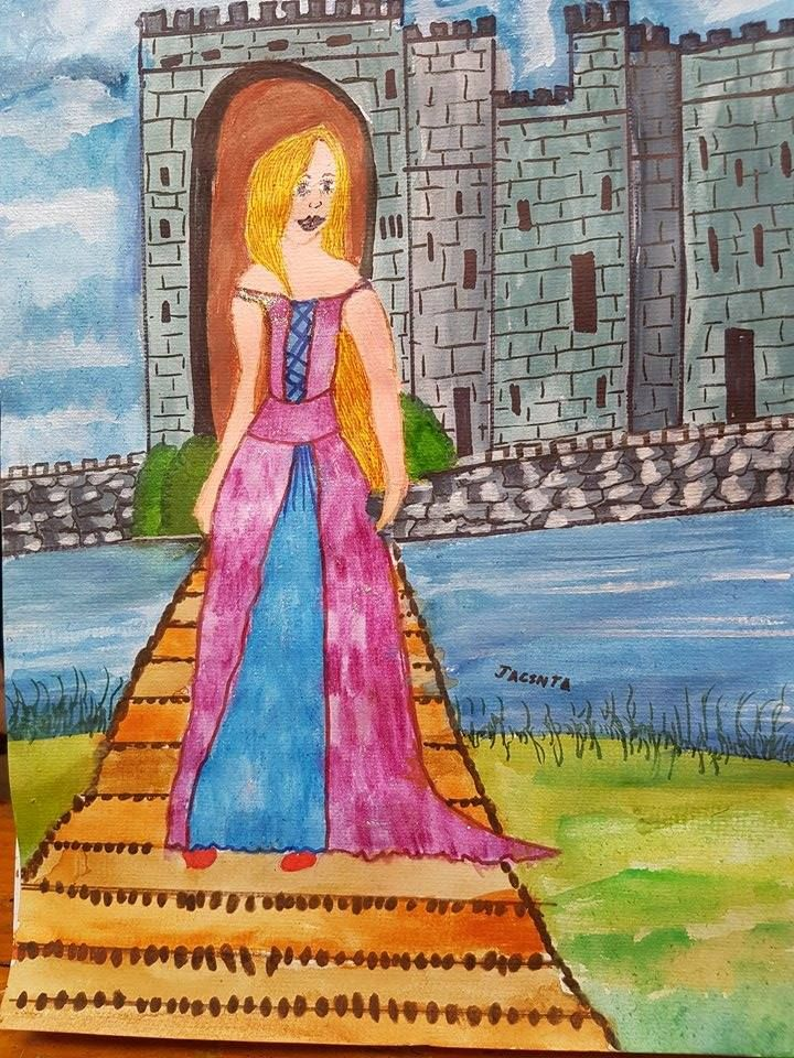 The Audience Choice prize of $50 goes to Jacinta, age 9, for this beautiful painting #winner