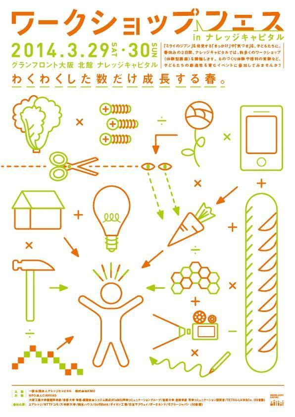 Japanese Event Flyer: Workshop Fest. Safari Inc. 2014