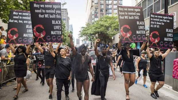 Black Lives Matter Toronto makes surprise appearance at Pride Parade