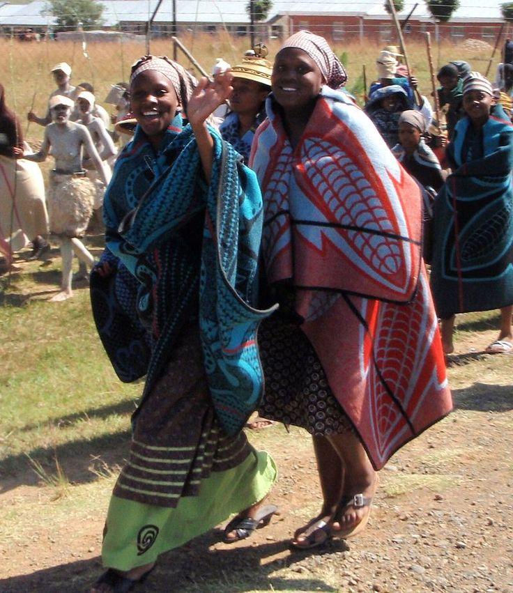Parade of Basotho women - Lesotho -