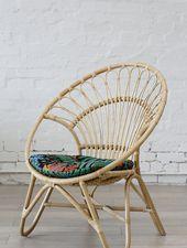 Rattan Round Chair Natural No Arm