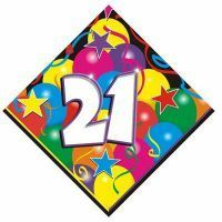 B405921 - Luncheon Napkin 21st Birthday Luncheon Napkin 21st Birthday Sparkling 2ply (33cm x 33cm) - Pack of 16 . Please note: approx. 14 day delivery