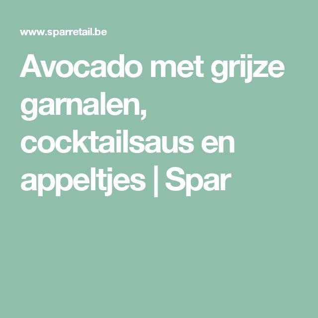 Avocado met grijze garnalen, cocktailsaus en appeltjes | Spar