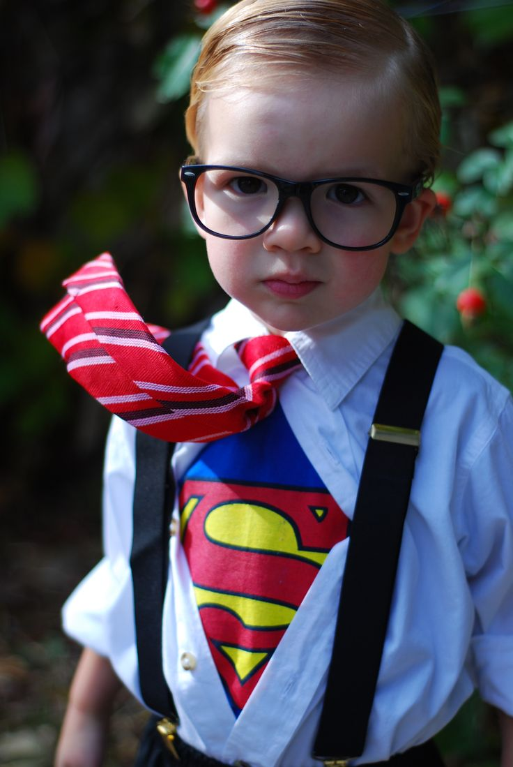 Little Clark Kent! Superman costume.