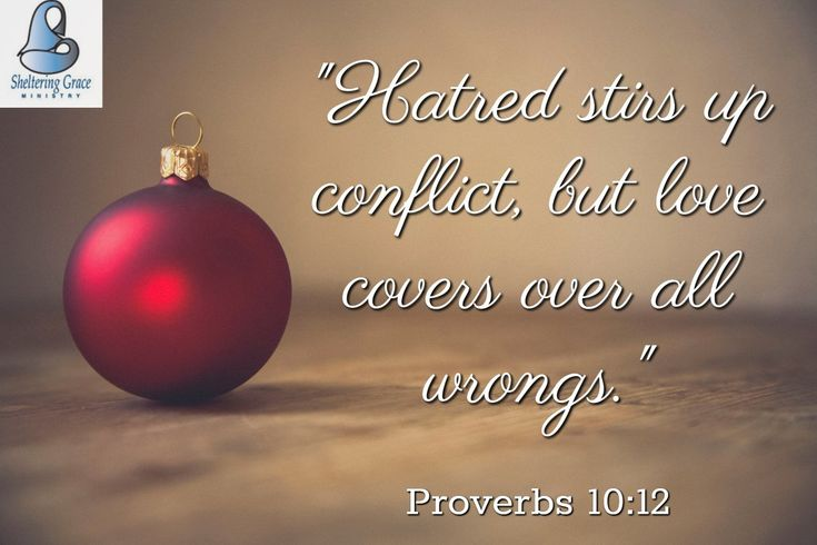 """Hatred stirs up conflict, but #love covers over all wrongs."" - Proverbs 10:12 NIV #bible #lifegoals"