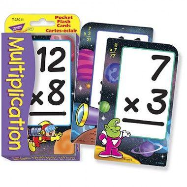 Multiplication Pocket Flash Cards
