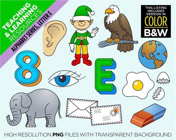 Letter E Clipart Alphabet Beginning Sound E 22 Images 2 Etsy Clip Art Alphabet Coloring Pages