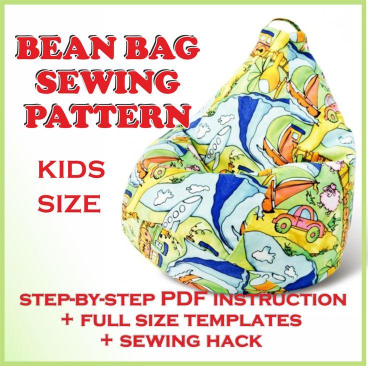 Kids BEAN bag pattern PDF Full size sewing templat | Craftsy