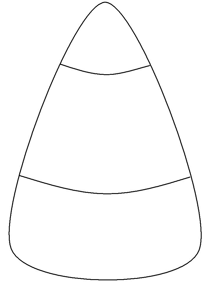 blank candy corn template