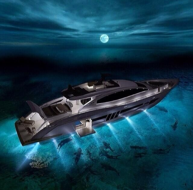 Private yacht lighting. This is so cool to be able to see ...