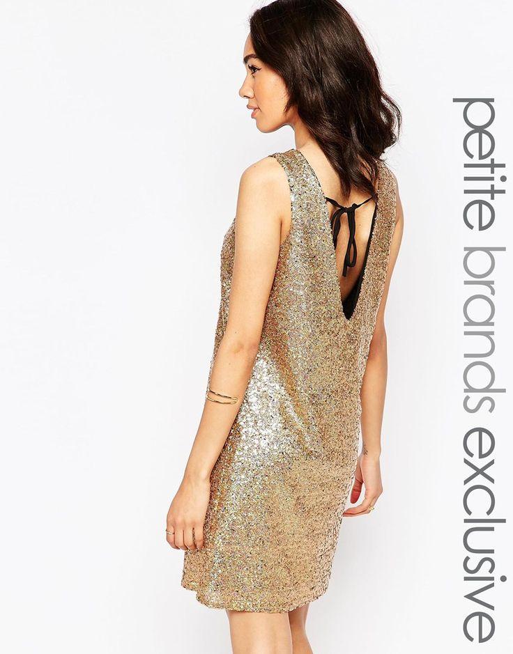 True Decadence Petite Low Back Sequin Mini Dress