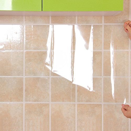 Yoedaf Transparent Oil Proof Wall Sticker Kitchen Backsplash Wallpaper Protector Stickers High Temper Kitchen Wall Stickers Backsplash Wallpaper Cleaning Walls