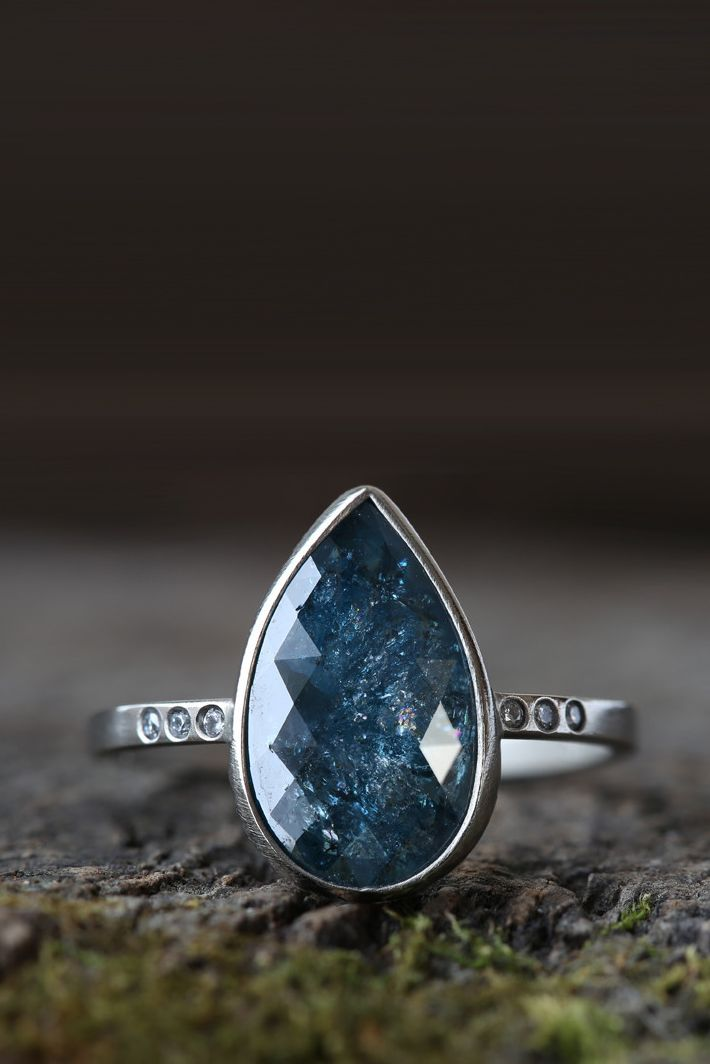 Best 25 Blue Diamond Rings Ideas On Pinterest Colored