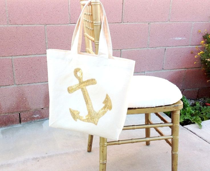Beach Tote Nautical Tote Bag Nautical Tote by LuckyYouLuckyMe