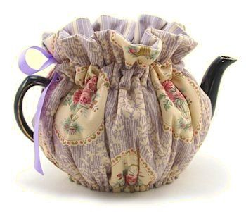 Parlor Medium 4-Cup Wrap Around Tea Cozy - Tea Cup Teapot Cozies - Roses And Teacups