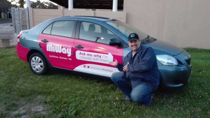 One of our #MiWay drivers getting paid to get the conversation started. #EarnExtraCash #BrandYourCar #Bucks4Influence #InsuranceFreedom