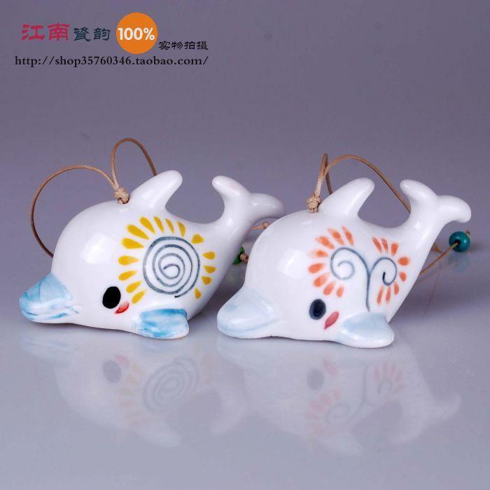 Cheap Joyería de cerámica de cerámica campanas de viento carillones de delfines campanas de viento, Compro Calidad Artesanías directamente de los surtidores de China: detalles del producto