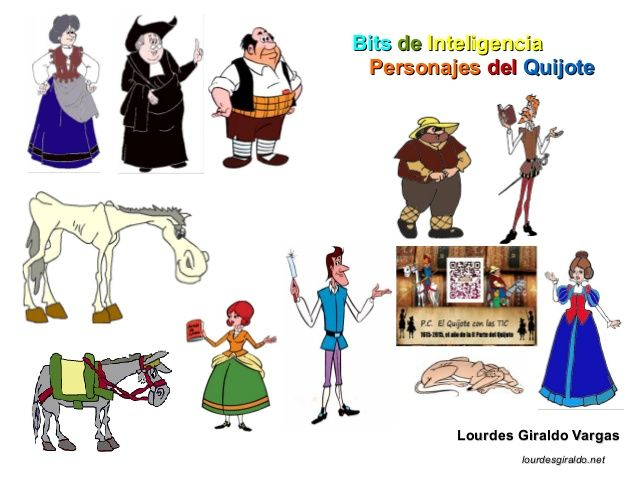 Bit personajes del Quijote by Lourdes Giraldo via slideshare