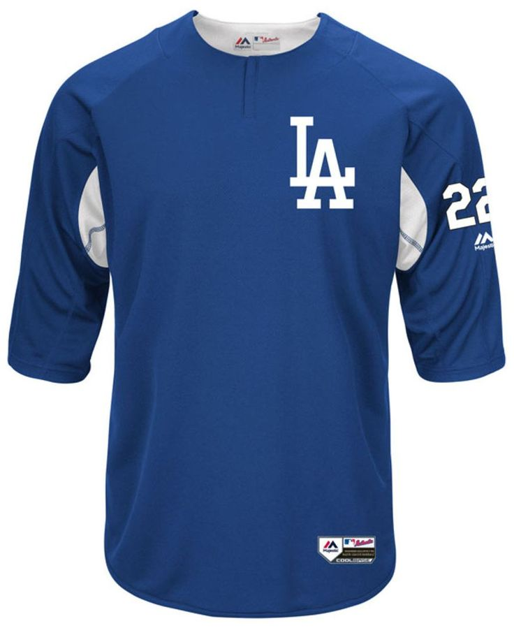 Majestic Men's Clayton Kershaw Los Angeles Dodgers On-Field Bp Trainer Jersey