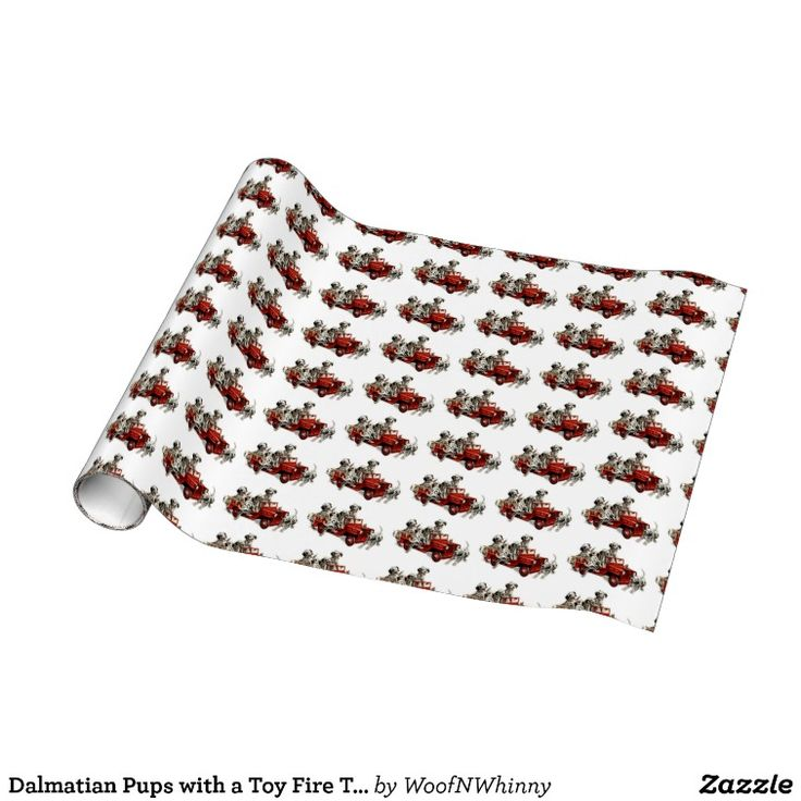 Dalmatian Pups with a Toy Fire Truck Wrapping Paper -- Two rolls sold today.