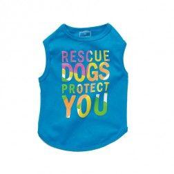 Camiseta Rescue Azul Para Perro