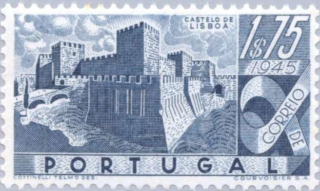 Sello: Castelo de Lisboa (Portugal) (Portuguese Castles) Mi:PT 698,Yt:PT 680