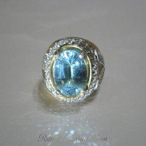Cincin Pria Blue Topaz 13.97 carat