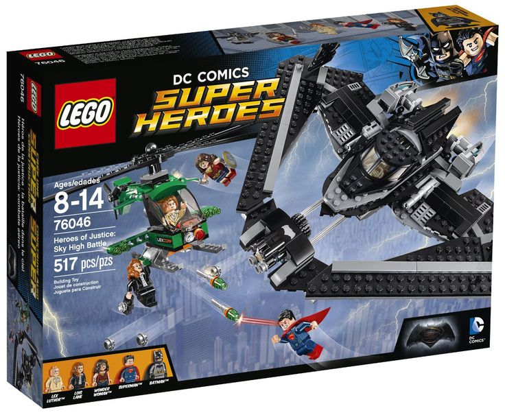 Comparez les prix du LEGO DC Comics Super Heroes 76046 Les Héros de la Justice : la bataille dans le ciel avant de l'acheter ! Infos, description, images, vidéos et notices du LEGO 76046 Les Héros de la Justice : la bataille dans le ciel sur Avenue de la brique
