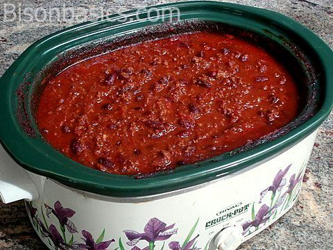 Crock Pot Bison Chili. We'll be doing this, too, with a few mods