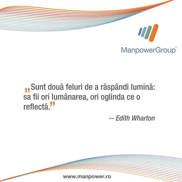 Edith Wharton despre a-i inspira pe altii.