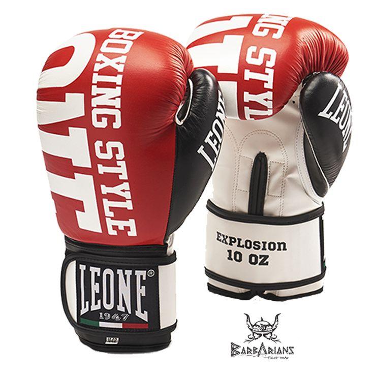 """Gants de Boxe Leone 1947 """"Explosion"""" Rouge http://www.barbariansfightwear.com/fr/gants-de-boxe-/204-gants-de-boxe-leone-1947-explosion-rouge-8052400753514.html"""
