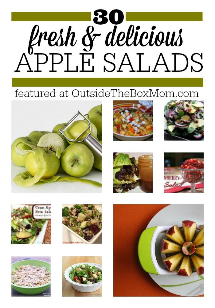 Are you looking for a collection of great apple salad recipes? Look no further! Here's a list of 30 of the best from some of my favorite bloggers. The Ultimate Pinterest Party, Week 75