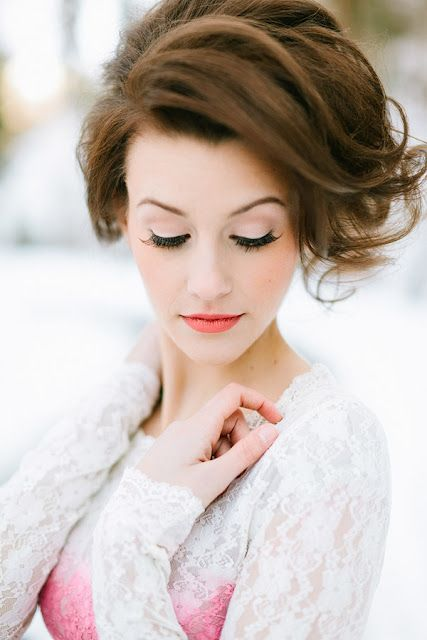 vintage glam: Wedding Hair, Makeup Tips, Winter Wedding, Makeuptips, Beautiful, Hair Makeup, Hair Style, Hair And Makeup, Wedding Makeup