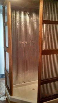 galvanized tin shower stall