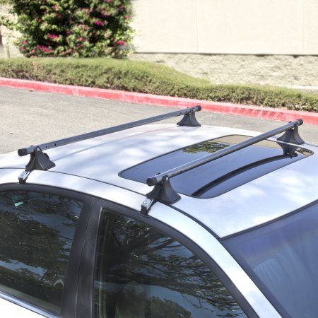 "48"" Telescopic Adjustable Car Top Roof Cross Bars Crossbars Luggage Cargo Rack"