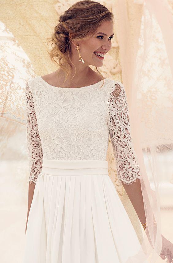 0373f25f4d87 Rose Wedding Dress  Long dress with flowy skirt