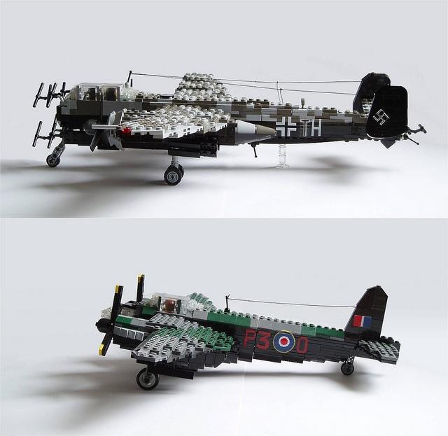 Lego WW-II Adversaries: Uhu vs. Mosquito