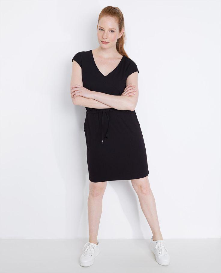 Zwarte jurk met kanten rug