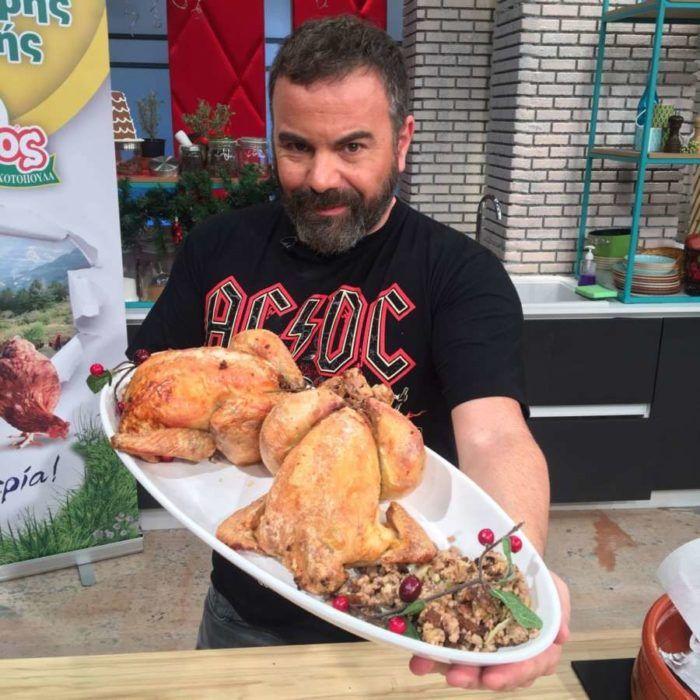 Βασίλης Καλλίδης: Κοτόπουλο γεμιστό στη λαδόκολλα!  #Συνταγές