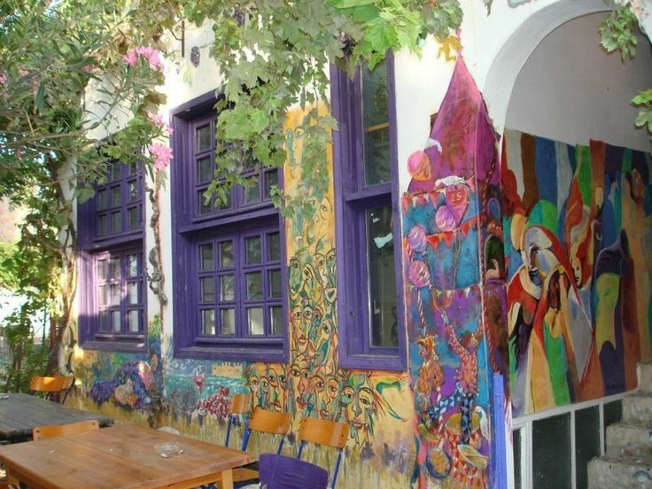 Colourful streets of Bozcaada