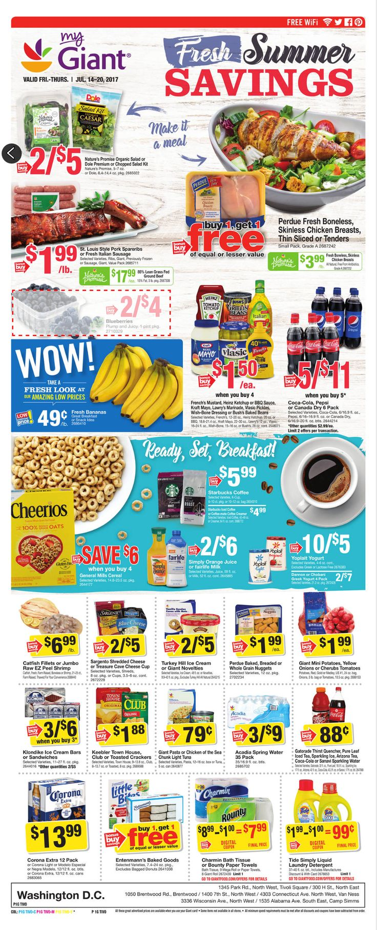 Giant Food Weekly Ad July 14 - 20, 2017 - http://www.olcatalog.com/grocery/giant-food-weekly-ad.html