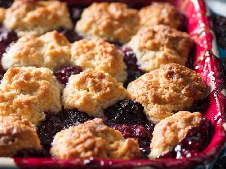 Old-Fashioned Blackberry Cobbler Recipe | It's hard to beat warm and jammy blackberries under a light and crispy biscuit crust, but with a few simple tricks you can make the most of your fruit (whether picked from a local farm or just your local supermarket). A small portion of raspberries will round out the flavor of sour or underripe blackberries, but with perfect fruit there's no need for a blend.
